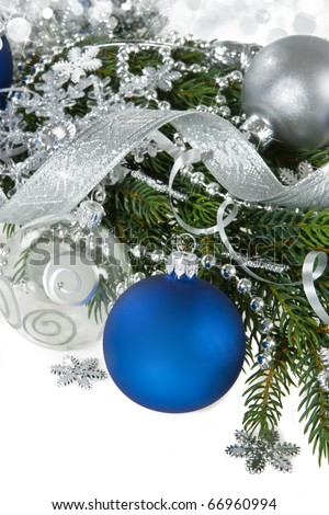 New Year and Christmas background. - stock photo