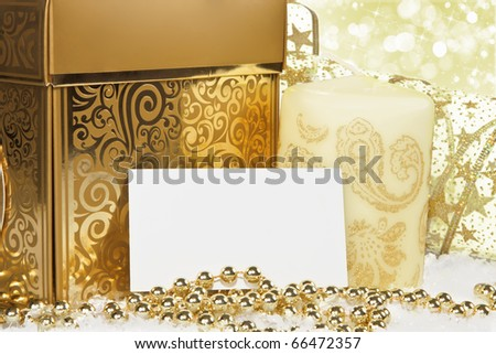 New Year and Christmas Border - stock photo