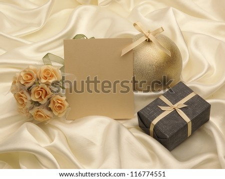 New year and christmas greeting card and decoration - stock photo