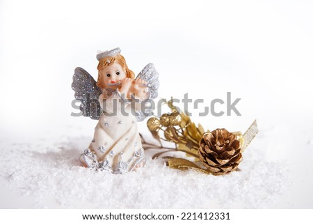 New year angels  - stock photo