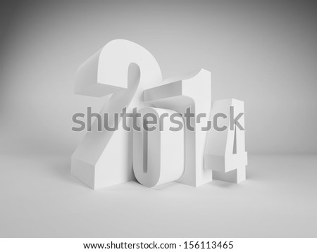 new year 2014 are coming - stock photo