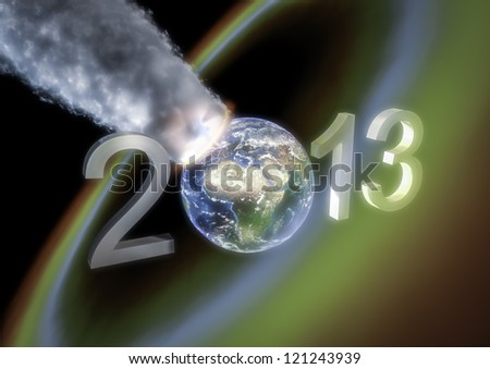 New year 2013 armageddon greeting - stock photo