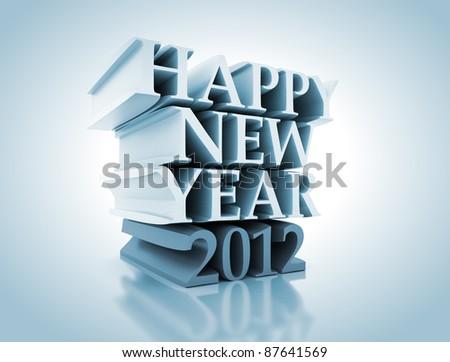 New 2012 year background. - stock photo