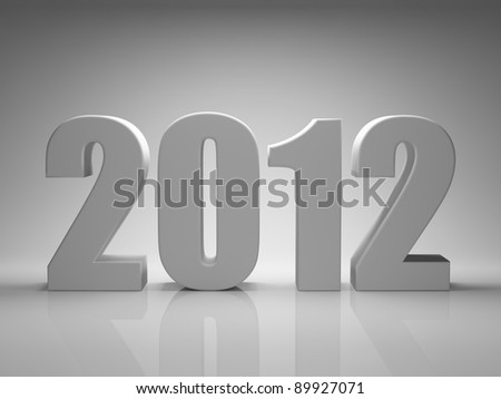 New Year 2012 background - stock photo