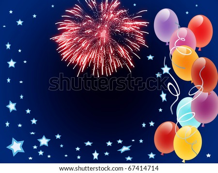 New Year background conceptual graphic with colorful balloons