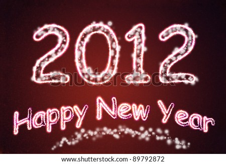 New Year background for design - stock photo
