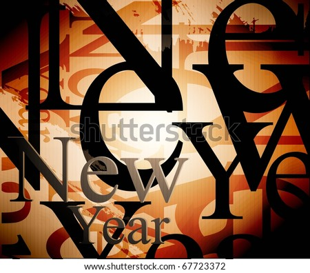 new year background.  illustration. Raster image