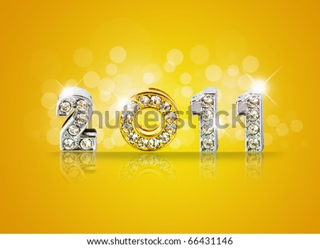 New year 2011  background with back light and place for your text . - stock photo