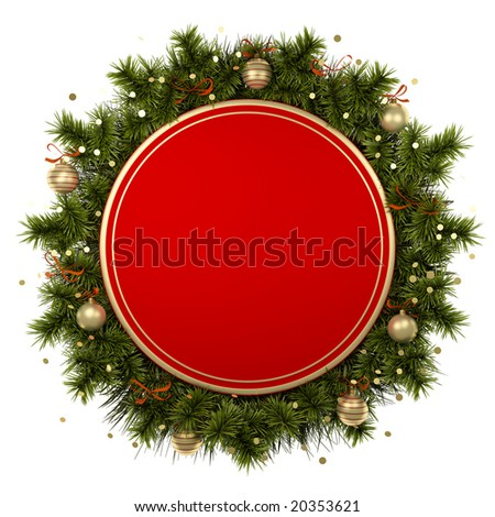 New year background with christmas tree branches. too see other, please visit my gallery - stock photo