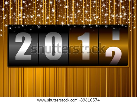 new year background with counter