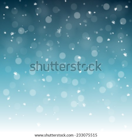 new year background with snowflake, illustration version - stock photo