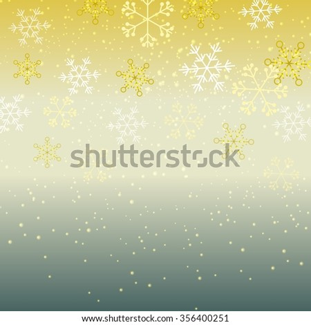 New year background with snowflakes - stock photo