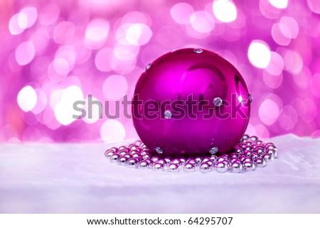 New Year ball - stock photo