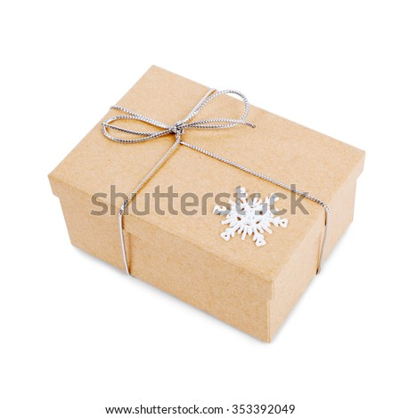 new year brown gift box