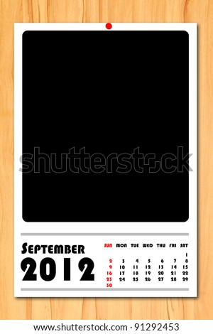 New year calendar 2012 September