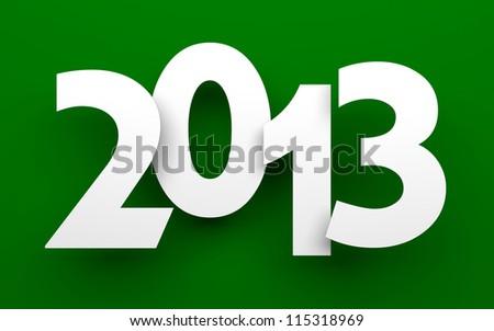 New Year 2013 card - stock photo
