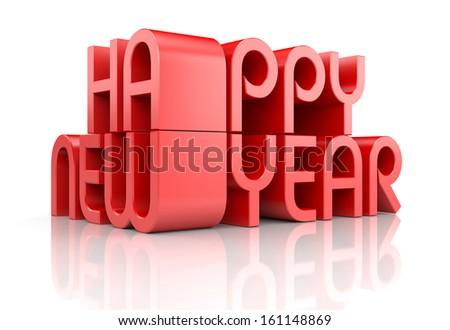 New Year 2014 card - stock photo