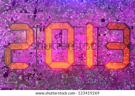 New Year 2013 Celebration - stock photo