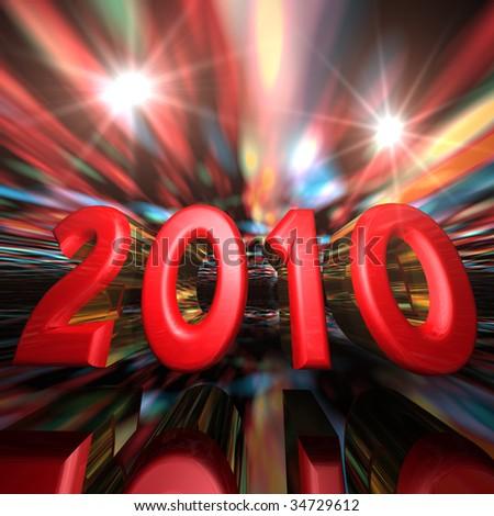 New Year Celebration 2010 - stock photo