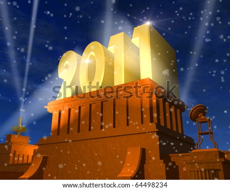 New Year 2011 celebration - stock photo