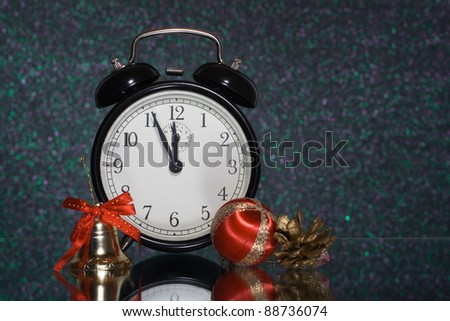 new year celebration, new year clock - stock photo