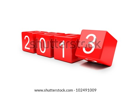 New year 2012-2013 changing - stock photo