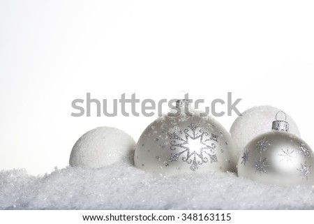 New Year Christmas ball in the snow