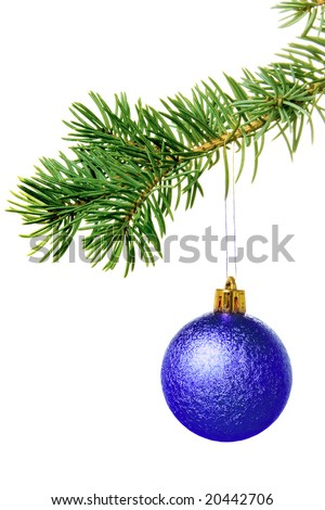 New year. Christmas. Tree decoration. Bow. Isolated.