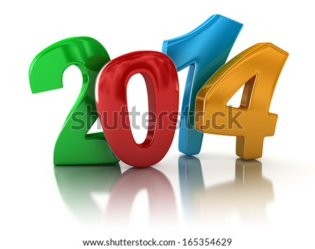 New Year 2014 (clipping path included)