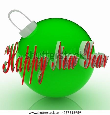 New year, Closeup on 2015, cristmas balls - stock photo