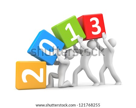 New year coming - stock photo
