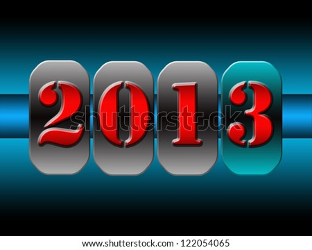 New 2013 Year counter - stock photo
