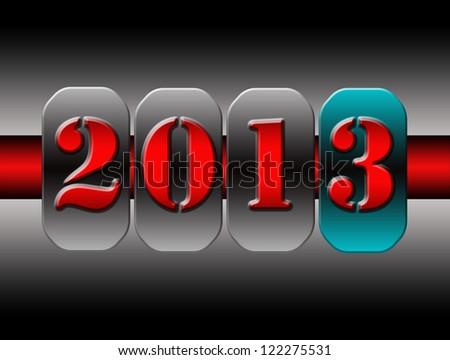 New Year counter, 2013, - stock photo