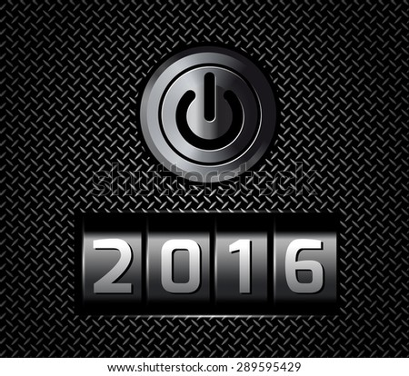 New Year counter 2016  - stock photo