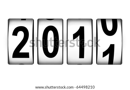 New Year 2011 counter - stock photo