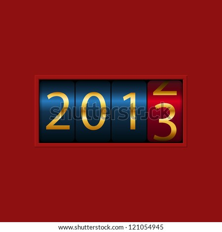 New Year counter, 2013, isolated - stock photo