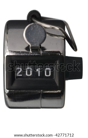 New year counter 2010. Isolated on white background - stock photo