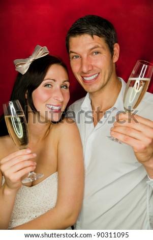 new year couple - stock photo
