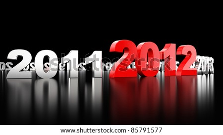 New Year 2012. 3d illustration - stock photo
