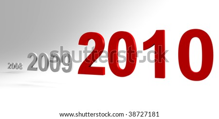 New Year 2010 - 3d image - stock photo