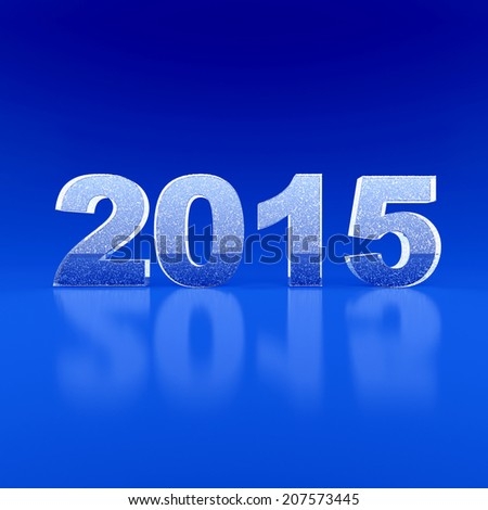 New Year 2015. 3d render illustration