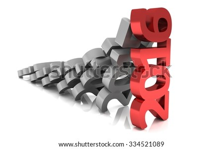 New year 2016,3d rendering of domino concept - stock photo