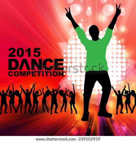 New year dance show - stock photo