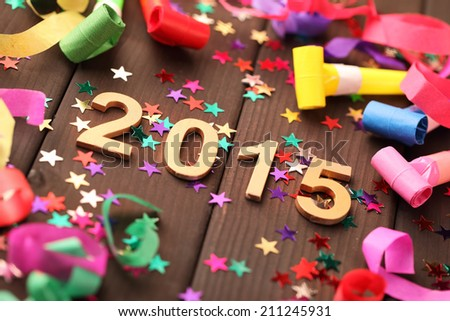 New year 2015 decoration,Closeup. - stock photo