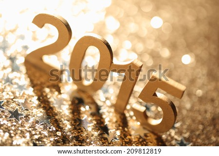 New year decoration,Closeup on 2015. - stock photo