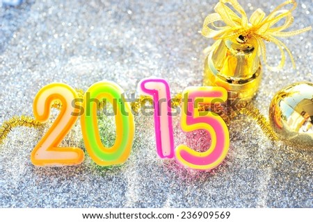 New year decoration on 2015.