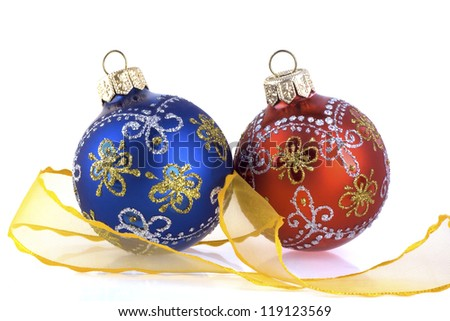 New-year decoration on a white background