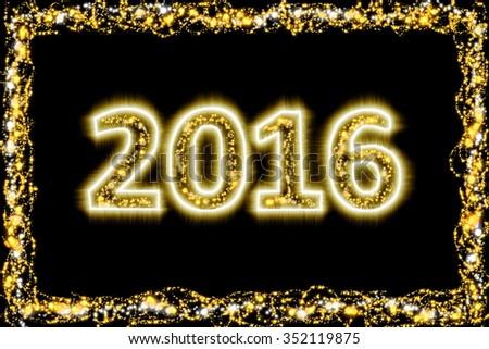 New Year 2016 Design 6 - stock photo
