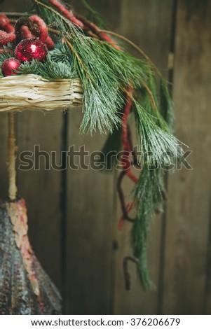 New Year Design bouquet decor - stock photo