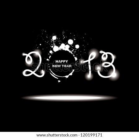 New year 2013 design. Raster version - stock photo